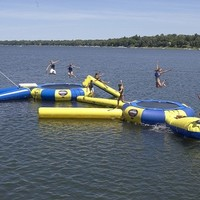 Rave Sports Aqua Jump 150-Eclipse Trampoline with Launch and Log