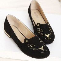 Kawaii Lovely Cat Decorate Round Head Shoes - 35 36 37 38 39 from Tobi's Finds