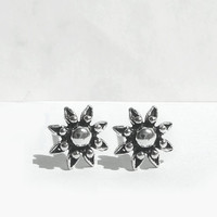 Tiny Sterling Silver Post Earrings, Flower Stud Earrings, Sterling Silver Flower Earrings, Little Sterling Silver Studs Flower Art, Artida