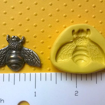 BUMBLE BEE mold flexible food safe for fondant cupcake toppers and cake decorations resin, wax sugarcraft
