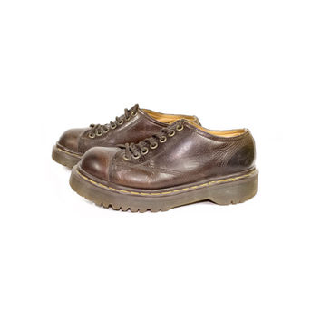 3 uk | 90s DR MARTENS made in england brown leather oxford shoes / vintage 1990s docs 8019