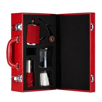 Gift Coffee Pot Set, Drip Cup, Fine Mouth Pot, Grinding Machine, Filter Paper