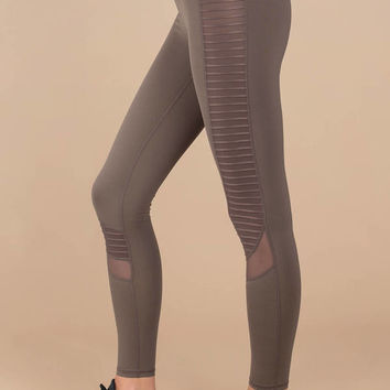 Leo High Rise Motto Mesh Leggings