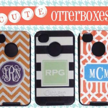 Monogrammed Otterbox  Personalized Commuter by MADFORMONOGRAMS