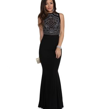 Matilde Black Beaded Prom Dress