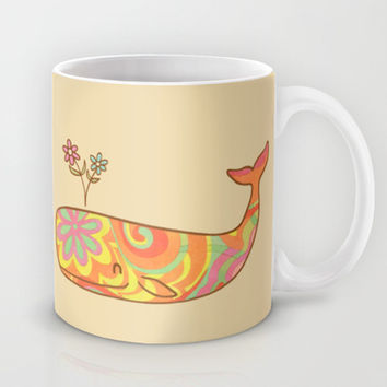 Hippy Whale Mug by Terry Fan