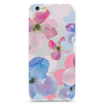 Watercolor Flowers Soft Phone Case - iPhone