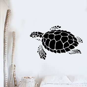 Vinyl Wall Decal Abstract Sea Animal Turtle Ocean Marine Style Stickers (2167ig)