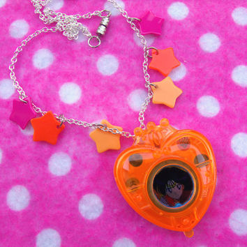 Sailor Moon Mars Transformation Locket Necklace