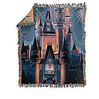 Walt Disney World Castle Tapestry Woven Throw