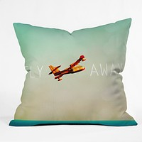Happee Monkee Fly Away Throw Pillow