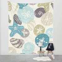 A Walk on the Beach Wall Tapestry by Noonday Design | Society6