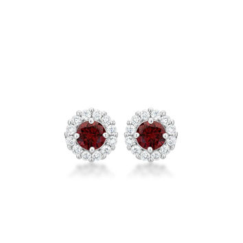 Garnet Ruby Red Earrings
