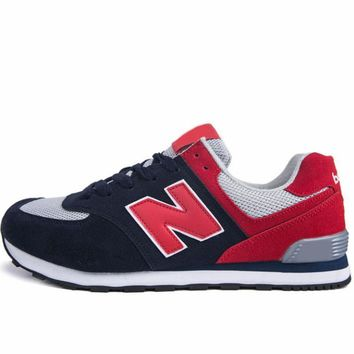 New Balance 2018 new trend casual couple models N word sports shoes Blue