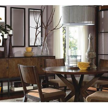3600 Kateri - 5 Piece Round Pedestal Table & 4 Wood Back Side Chairs