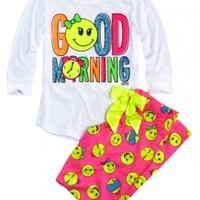 Good Morning Front Back Pajama Set
