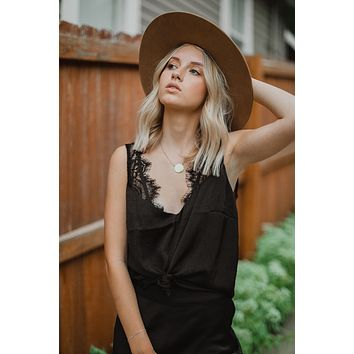 Lauren Lace Tank (Black)