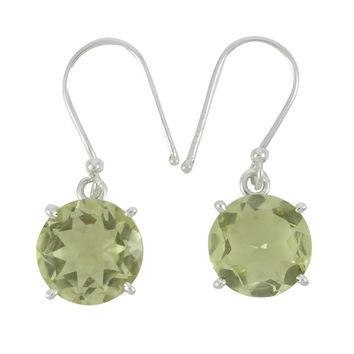 925 Pure Silver Trendy Pendant Earring Ring Set Citrine Stone Fashion Jewelry
