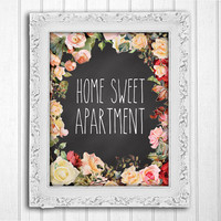 Printable Wall Art // Home Sweet Apartment // INSTANT DOWNLOAD