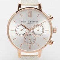 Olivia Burton Big Dial Chronograph Mink Watch