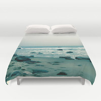 Block Island Beach, Duvet Cover,Rocks,Sky,Ocean, Modern Bedding, Bedroom Decor, Home Accessories, Bedroom Art,Designer Cover,Interior Design