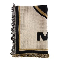Mizzou Oval Tiger Head Black & Gold Afghan