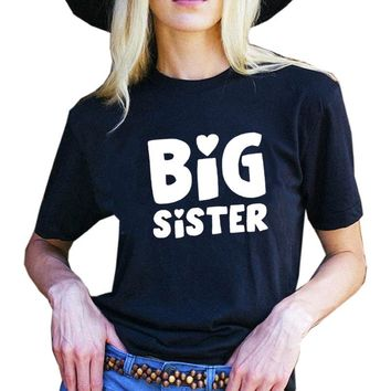 Big Sisters BBF Best Friends T-shirts Summer Women Oversized Fashion Graphic Tee Shirts Beach Holiday Gift