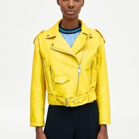 FAUX LEATHER BIKER JACKET - JACKETS-WOMAN | ZARA United States