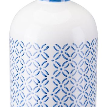 Bottle Lg Steel Blue And White