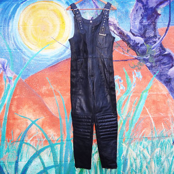 Vintage 70s Wastelander Powerline Womens Motorcycle Racing Overalls- small -