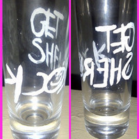 GET SHERLOCK BBC Painted Double Shooter Shot Glass 2oz