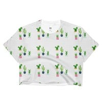 Cactus pattern Ladies Crop Top