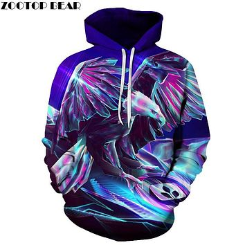 Steel Eagle 3D Brand Hoodies Brotherhood Printed Sweatshirts Men Pullover Hooded Tracksuits Autumn Fashion Casual Boy Jackets