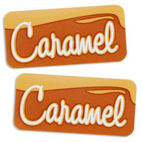 Caramel Bakery Labels