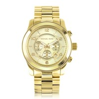 Michael Kors Designer Men's Watches Men's Runway Gold-Tone Stainless Steel Bracelet Watch