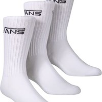 Vans Classic Crew 3-Pack Sock - white - Free Shipping