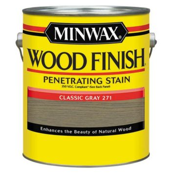 Minwax® 71098 Wood Finish™ 250 VOC Compliant Penetrating Stain, Classic Gray, 1 Gal