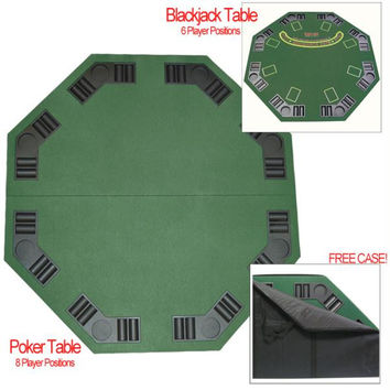 Deluxe Poker & Blackjack Table Top w- Case
