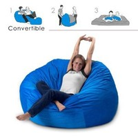Corda Roy`s Queen Size Convertible Foam Bean Bag Bed in Corduroy Color-Material - Other Fabrics: Home & Kitchen