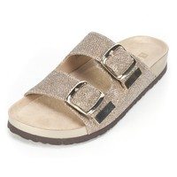 White Mountain Shoes Horizon Gold Glitter Sandal