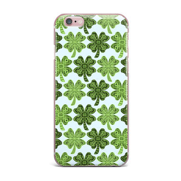 """Art Love Passion """"Lucky You"""" Green Shamrock iPhone Case"""
