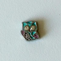 Spring Owl Floating Charm