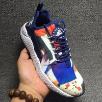 Best Online Sale Nike Air Huarache 3 Kjcrd Run Ultra Dark Blue / Orange Red Bleu Fonce / Orange Running Sport Casual Shoes Sneakers - 818061-416