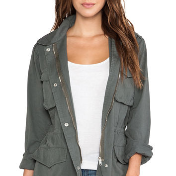 BB Dakota Mags Military Jacket in Gray