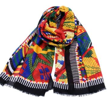 Fashion Women Ethnic Plaid Scarf Female Bandana Cotton Tassel Wrap Lady Gift hijab 2018 New Luxury Design 180*110cm