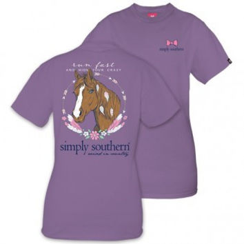 "*Closeout* Simply Southern ""Horse"" Short Sleeve Tee"
