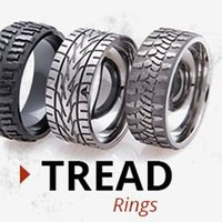 Sleek and Sophisticated Mud Bogger Rings, at Titanium-Buzz.com