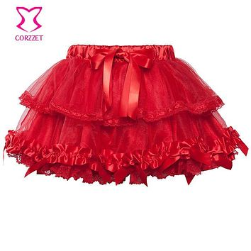 Summer Style Sexy Mini Tulle Skirt Underdress Four Colors Multilayer Tutu Skirt Women Petticoats For Girls Club Party Clubwear