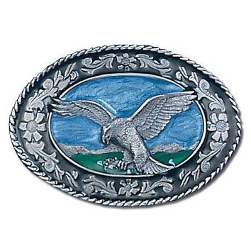 Sports Accessories - Western Eagle Enameled Belt Buckle