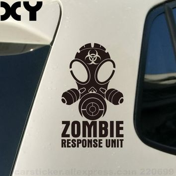 Zombie Car Sticker Vinyl Decal Car Sticker Truck Car Window Bumper Guitar Cartoon Stickers Motorcycle Waterproof